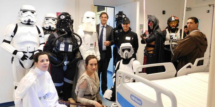 Gli Ultimi Jedi all'Ospedale Niguarda di Milano