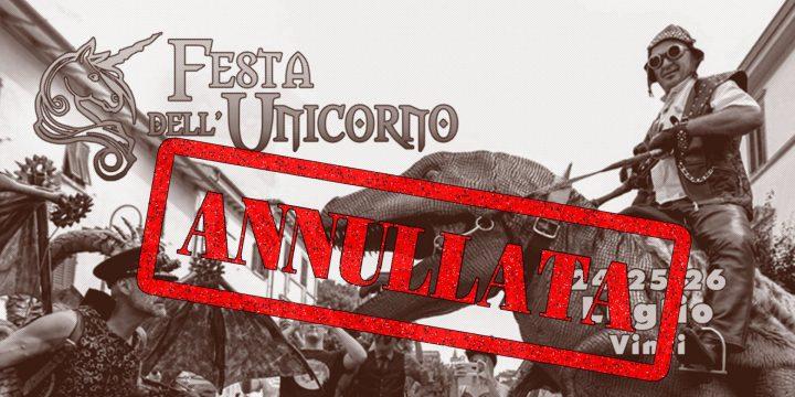 Annullata la Festa dell'Unicorno 2020
