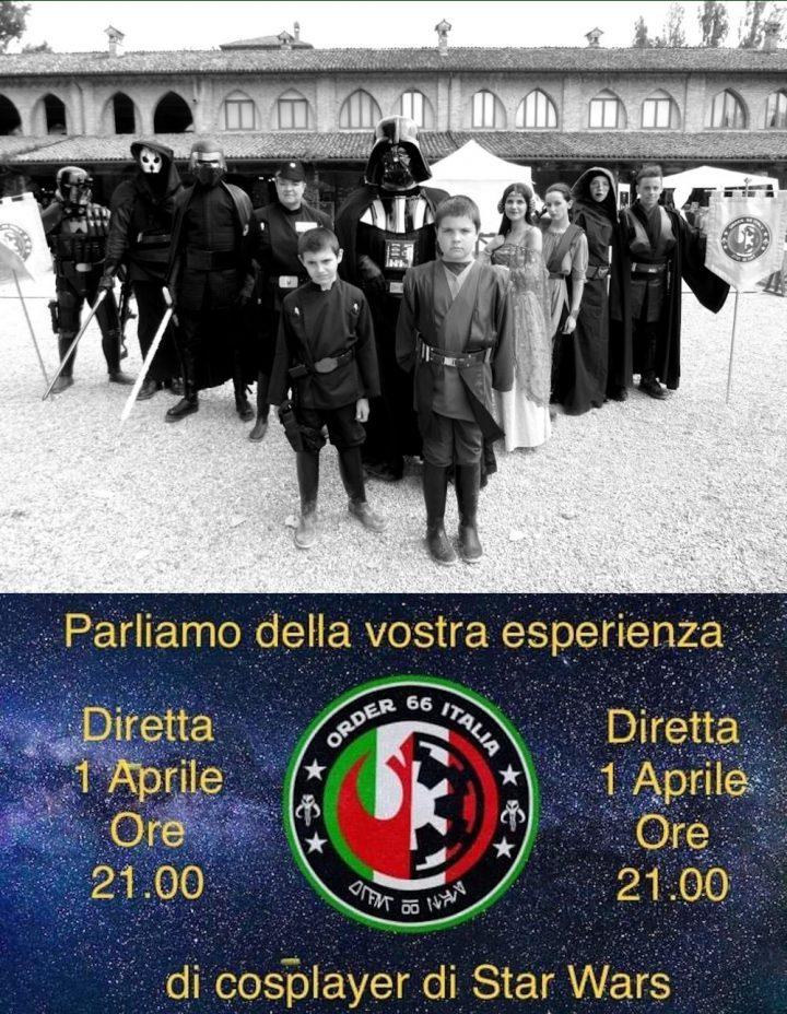 Order 66 Italia: Live sul Cosplay